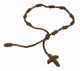 4030573 Set of 3 Brown Decenario Pulseras Knotted Thread Cross Bracelet Hip Hop Kanye ...