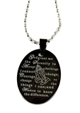 4030579 Serenity Prayer Dogtag Style Necklace AA One Day At A Time 12 Step Dog Tag
