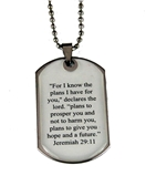 4030596 Jeremiah 29:11 For I Know The Plans I Have For You Scripture Verse Dog Tag Necklace Dogtag