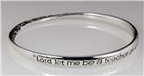 4030618 Teacher's Prayer Bangle Bracelet Christian Jewelry Jesus Bible Presen...