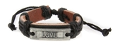 4030636 LOVE Leather Bracelet Promise Hope Inspirational Encouragement