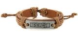 4030637 PEACE Leather Bracelet My Peace I Give You