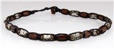 4030641 Christian Cross Beaded Leather Necklace Religious Church Bible