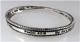 4030651 Psalm 42:8 Twisted Bangle Bracelet Christian Scripture By Day The Lor...