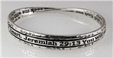 4030652 Jeremiah 29:13 Twisted Bangle Bracelet Christian Message Seek The Lord