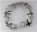 4030677 Hearts and Crosses Bracelet Cross Christian Religious