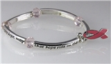 4030686 Pink Ribbon Stretch Bracelet Breast Cancer Awareness Inner Strength Hope