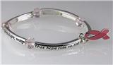 4030686 Pink Ribbon Stretch Bracelet Breast Cancer Awareness Inner Strength Hope