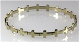4030708 Cross Bracelet Bangle Repeated Christian Cross Religious Bible Scripture