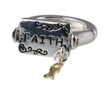 4030732 Faith Christian Stretch Ring Religious Cross Bible Scripture