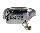 4030733 Love Christian Stretch Ring Religious Cross Bible Scripture