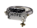 4030734 Hope Christian Stretch Ring Religious Cross Bible Scripture