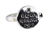 4030735 Expect Miracles Christian Stretch Ring Religious Cross Bible Scripture