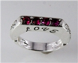 4030737 Love Christian Stretch Ring Religious Cross Bible Scripture