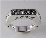 4030738 Love Christian Stretch Ring Religious Cross Bible Scripture