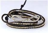 4030761 Eternity Leather Wrap Bracelet Beaded Infinity Fashion Statement