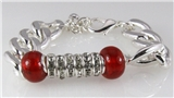 4030770 Beautiful Bead and Chain Fashion Bracelet Stretch Red Coral