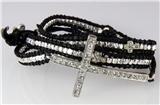 4030826 Leather Cross Wrap Bracelet Christian Fashion Jewelry Religious