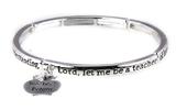 4030855 Teacher Prayer Stretch Bracelet Christian Teachers Gift School Apprec...