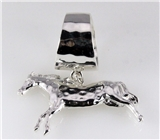 4030870 Dancing Horse Scarf Ring Equine Style Western Cowgirl Rodeo Theme