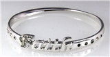 4030873 Faith Twisted Bangle Bracelet Christian Religious Inspirational Faith