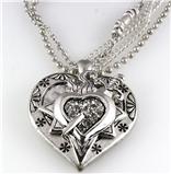 4030892 Bleeding Heart Sword Necklace and Earring Set Love Power
