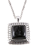 4030893 Black Drusy Quartz Look Necklace and Earring Set Designer Inspired