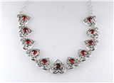 "4030894 Tailored Style Filigree Ruby 16"" Necklace Bubble Antique Like Heirloom"