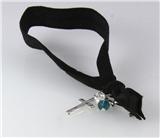 4030913 Stretch Hair Tie Cloth Fabric Cross Christian Bracelet Trendy Fashion...