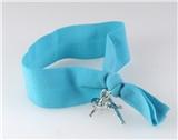 4030914 Stretch Hair Tie Cloth Fabric Cross Christian Bracelet Trendy Fashion...