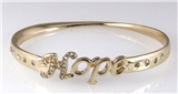 4030923 Hope Bangle Bracelet Inspirational Christian Faith Trust