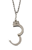 4030981 Unshackled Handcuff Necklace Prison Ministries Set Free Hand Cuff Captive Clean and Sober