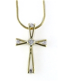4031005 CZ Cross Necklace Christian Fashion High Quality Religious Inspirational