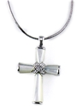 4031006 Mother of Pearl Cross Necklace Christian Fashion High Quality Religious