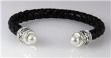 4031035 Braided Leather Fashion Bracelet Coil Form Fitting Bendable Designer ...