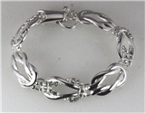 4031049 Beautiful Polished Repeating Infinity Eternity Knot Bracelet Fashion ...