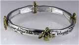 4031051 Angel Blessing Stretch Bracelet Angel Watching Over You Christian Gua...
