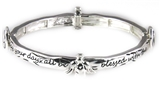 4031052 Angel Blessing Stretch Bracelet Angel Watching Over You Christian Bangle