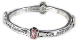 4031055 Cure Hope Fight Breast Cancer Stretch Bracelet Awareness Pink Ribbon