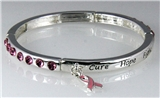4031056 Cure Hope Fight Breast Cancer Stretch Bracelet Awareness Pink Ribbon