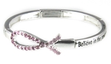 4031057 Breast Cancer Stretch Bracelet Awareness Christian Pink Ribbon