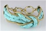 4031064 Infinity Knot Faux Leather & Chain Bracelet Eternity Braid Braided