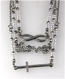 4031073 Cross Love Eternity Combination 3 Chain Necklace Pendant Christian Th...