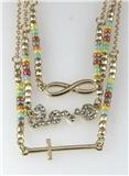 4031074 Cross Love Eternity Combination 3 Chain Necklace Pendant Christian Th...