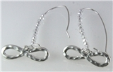 4031079 Infinity Symbol Dangling Earrings Beaded Eternity Beads Fashion Loop