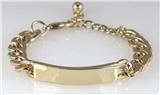 4031090 Identification ID Bracelet Bar Chain Fashion Mens Men's or Women's En...