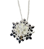 4031102  Christmas Necklace & Brooch Combo Snowflake 18 Inch Chain …