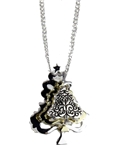 4031103 Christmas Necklace & Brooch Combo Christmas Tree 18 Inch Chain