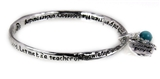 4031133 Christian Twisted Solid Bangle Stackable Teacher Prayer Verse Apple R...