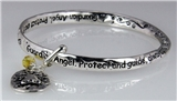 4031136 Guardian Angel Christian Twisted Solid Bangle Stackable Religious Bible